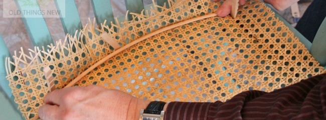 Recaning a Vintage Chair