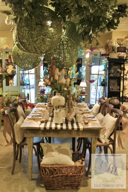 Twigs Easter Table