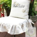 Ruffled Patio Chair Cover